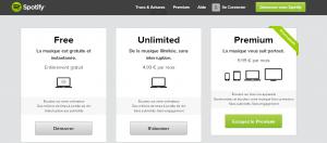 La plateforme de musique Spotify
