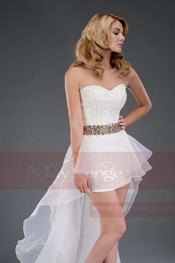 robe de soirée asymétrique