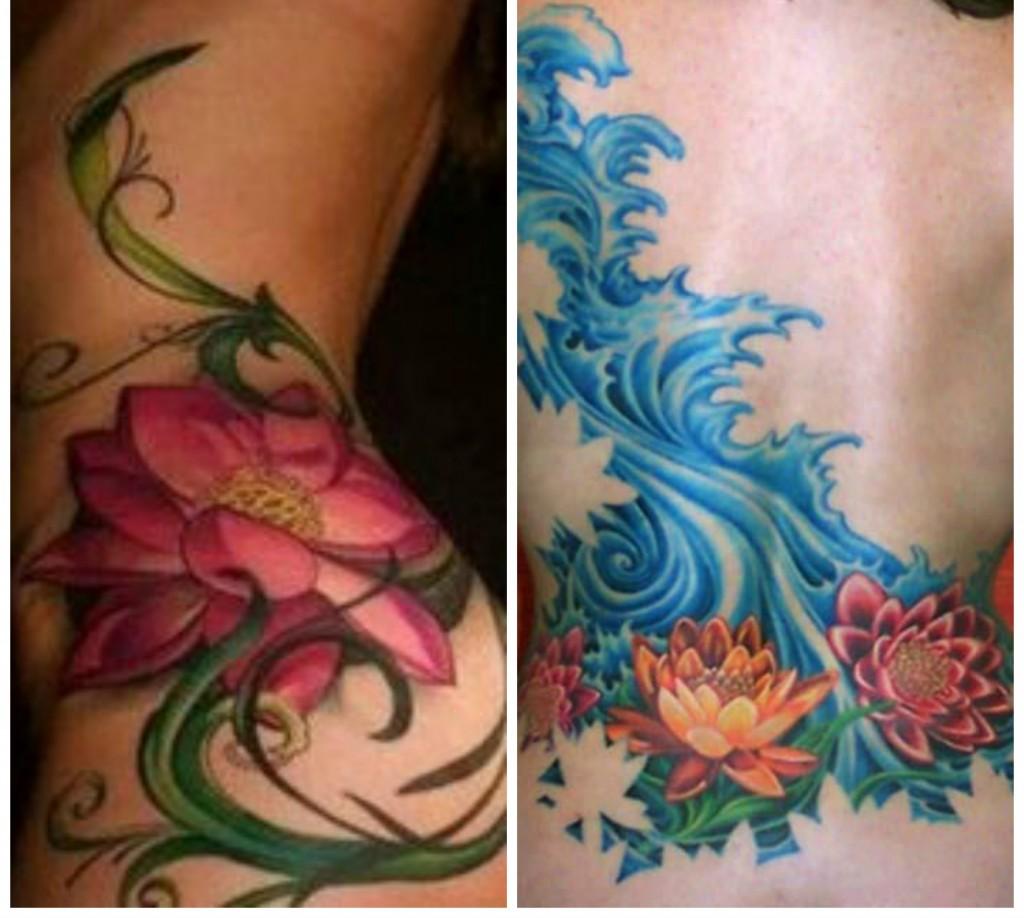 tatouages fleur de lotus