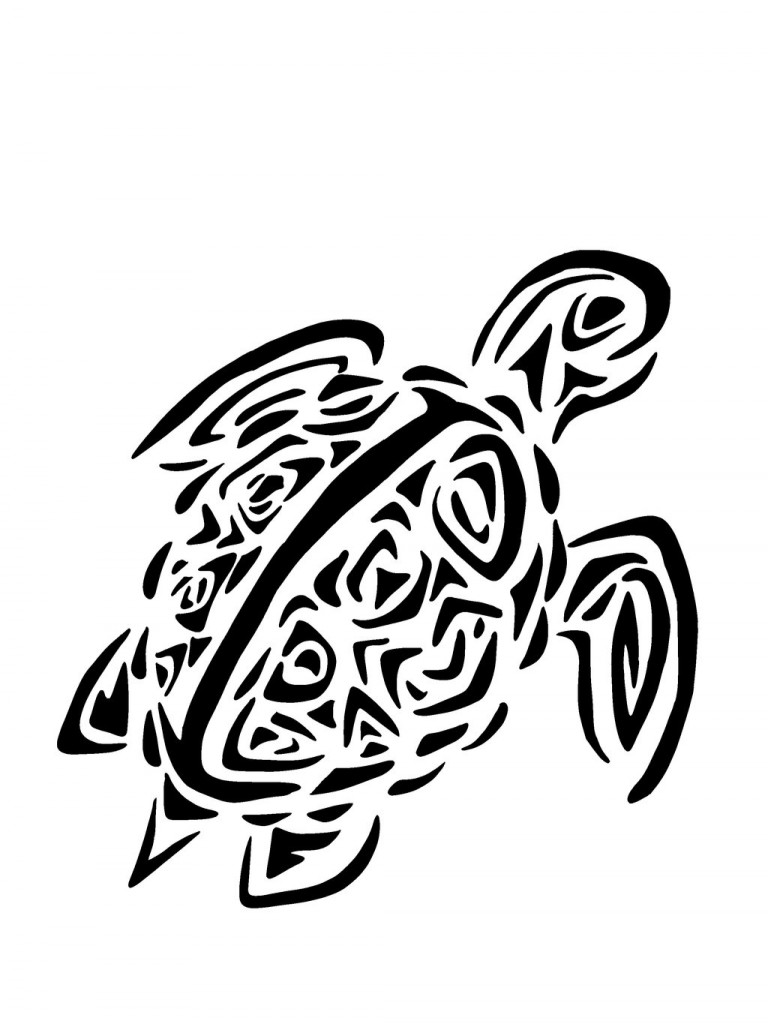 tatouage dos femme tortue