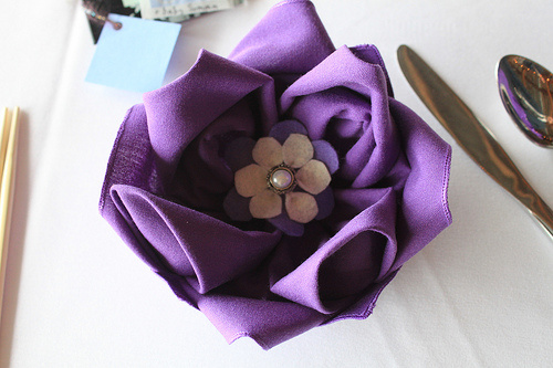 pliage de serviette lotus