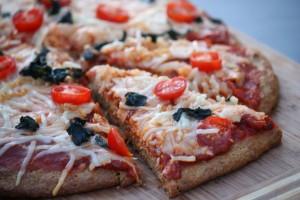 pizza aux graines de lin