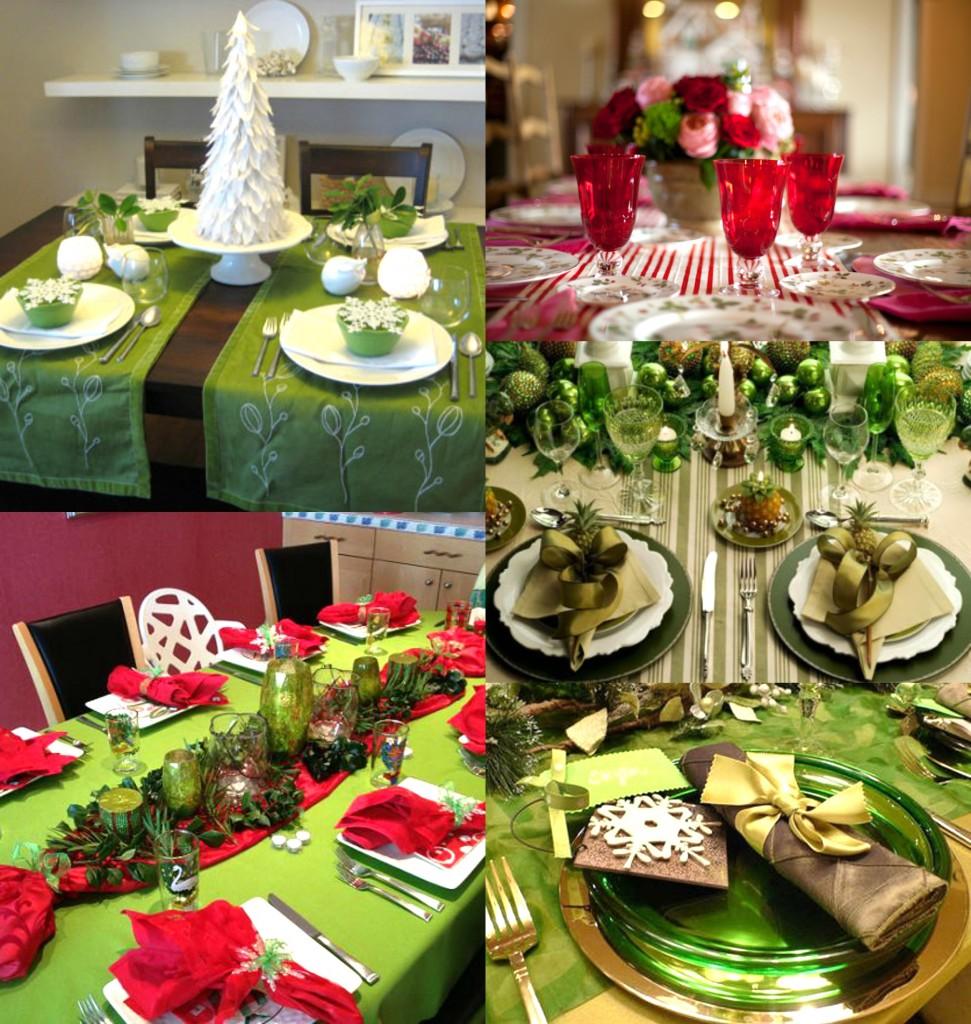 decoration de table noel verte