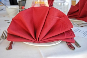 pliage de serviette eventail