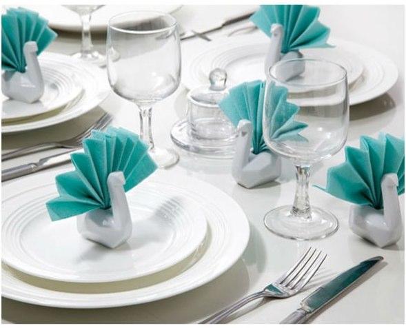 pliage de serviette signe decoration table
