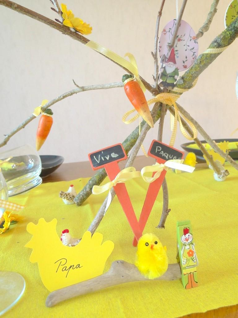 décoration table paque