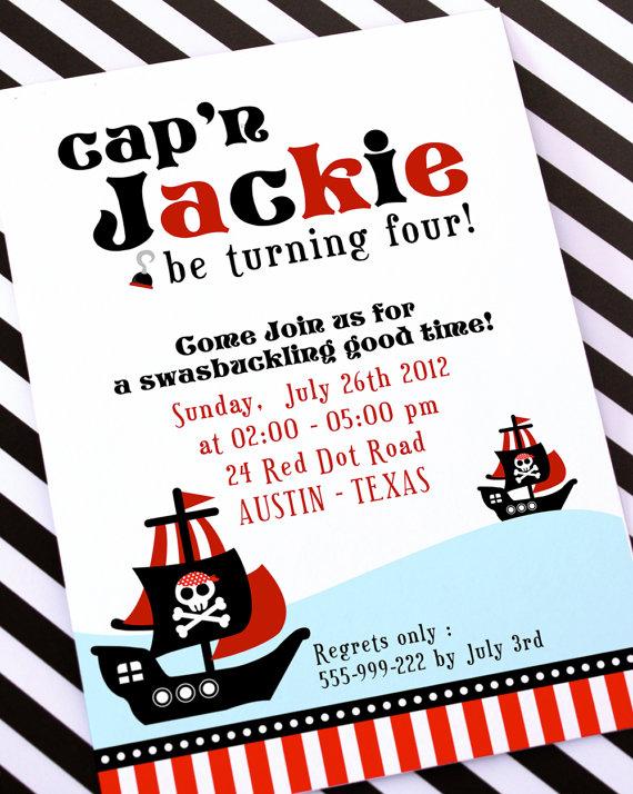 invitation anniversaire pirate